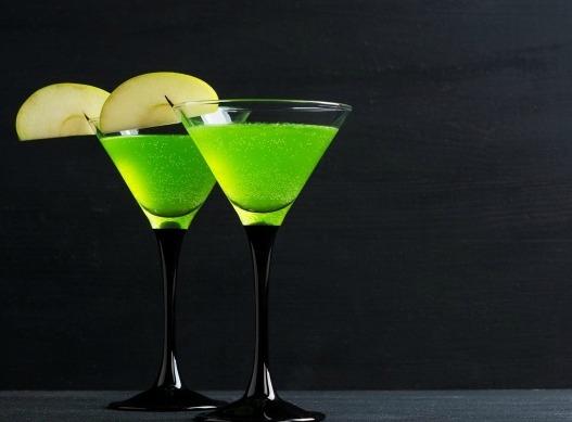 Sparkly Green Apple Martini Mocktail
