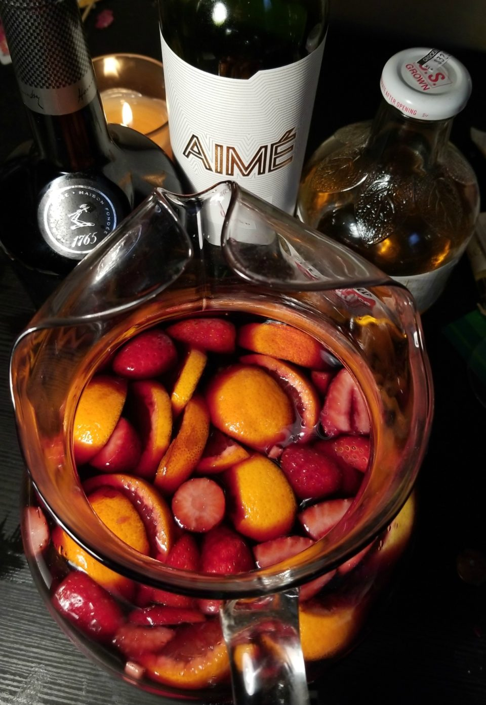 A Solstice Sangria Made With Aime Ruca Malen
